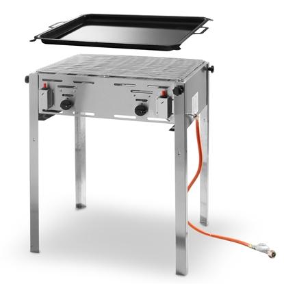 Grill gazowy z patelnią Grill Master Maxi 590x480mm 11.6kW - Hendi 154717