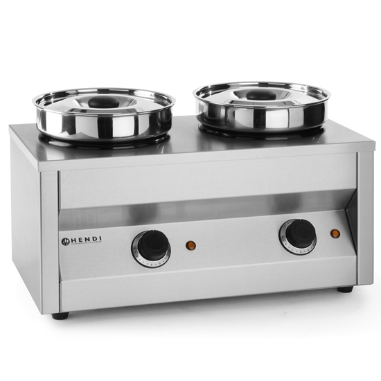 Podgrzewacz elektryczny do zupy i sosu Thermosystem 2 x 4.2L - Hendi 201206