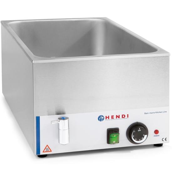 Bemar nastawny elektryczny wodny do GN1/1 150mm z kranikiem - Hendi 238912