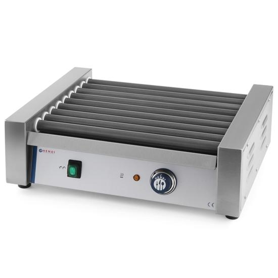 Roller grill podgrzewacz rolkowy do parówek 9 rolek 940W - Hendi 268605