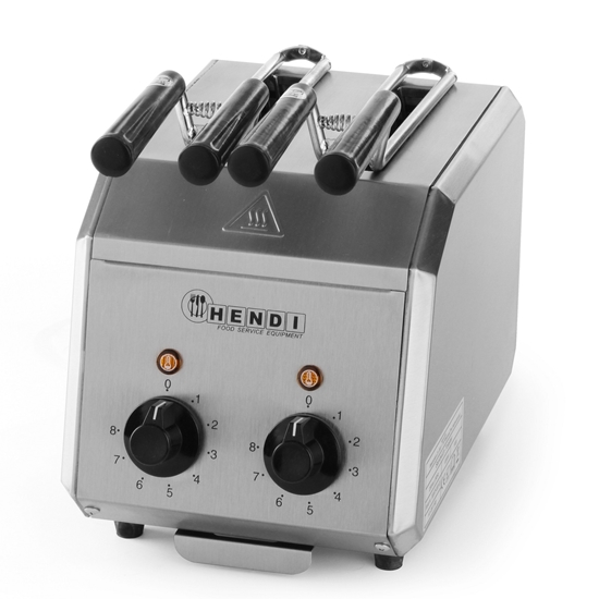 Toster kanapkowy z timerem podwójny 1200W- Hendi 261163