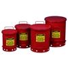 Kosz na odpady łatwopalne i zaolejone czyściwo - atesty FM / UL poj. 34L