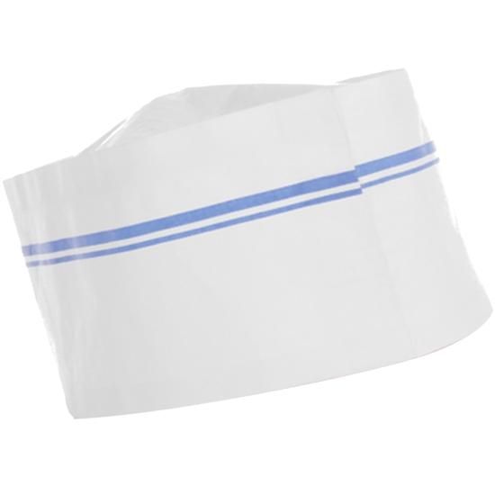 Furażerka czapka kucharska papierowa uniwersalna zestaw 100szt. - Hendi 560037