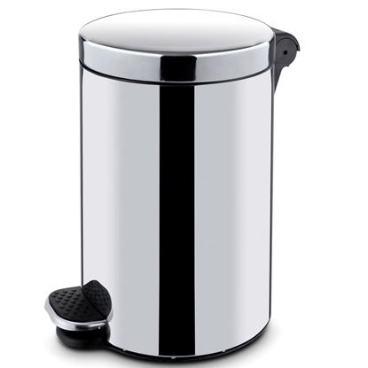 Kosz na śmieci stalowy z wkładem otwierany nożnie 5L - Hendi 691311