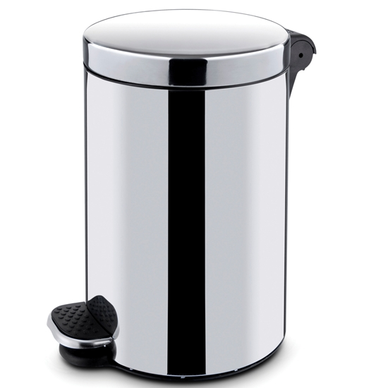 Kosz na śmieci stalowy z wkładem otwierany nożnie 20L - Hendi 691335