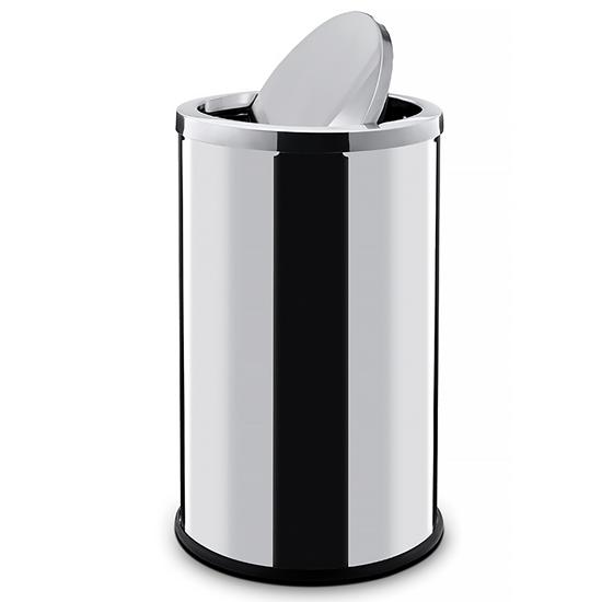 Kosz na śmieci stalowy z pokrywą obrotową 18L - Hendi 691359