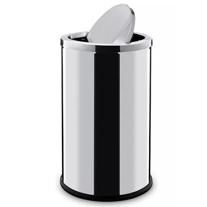Kosz na śmieci stalowy z pokrywą obrotową 45L - Hendi 691366