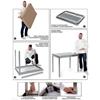 Stół blat roboczy do kuchni stalowy przyścienny z rantem i półką 140x60cm - Hendi 811481