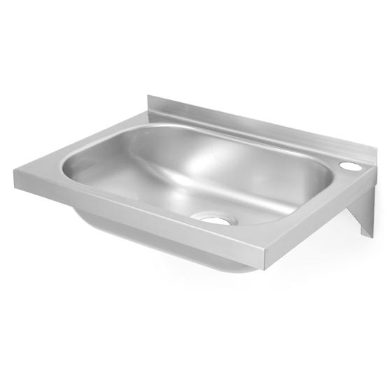 Umywalka stalowa do rąk wiszca na ścianę 400x295mm - Hendi 811818