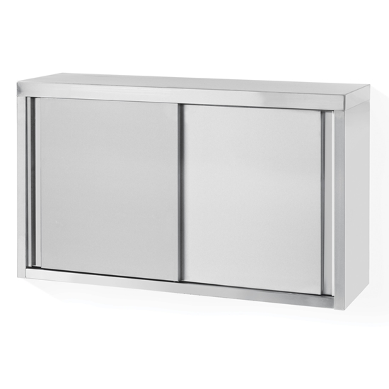 Szafka wisząca ścienna stalowa do kuchni z drzwiami suwanymi 120x60x40cm - Hendi 811214