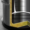 Pojemnik termiczny termos stalowy do transportu żywności 20L - Hendi 710203