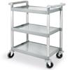 Wózek kelnerski 3-półkowy z tworzywa plastiku do 150Kg - Hendi 810200