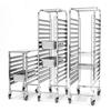 Wózek stalowy do transportu tac blach pojemników 15 x GN1/1 - Hendi 810613