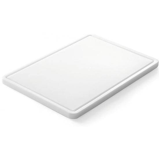 Deska kuchenna do krojenia i siekania z rowkiem HDPE 35.5x25cm - Hendi 826362