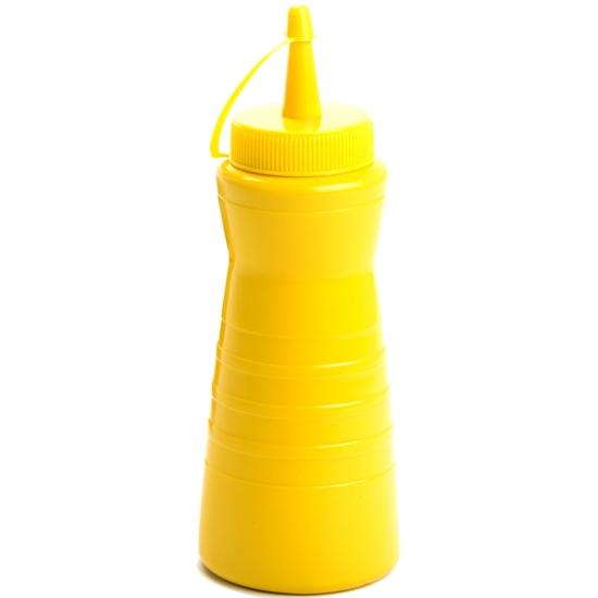 Dyspenser dozownik do sosów zimnych Easy Squeeze 200ml żółty - Hendi 558300