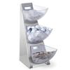 Ekspozytor stojak bufetowy na cukier śmietankę do kawy stalowy 3 x 1L - Hendi 428245