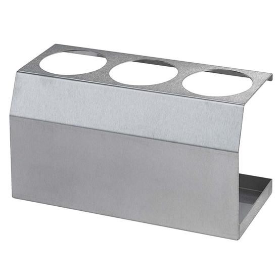 Ekspozytor stojak stalowy do butelek dyspenserów do sosów 3 x 0.35L śr. 55mm  - Hendi 557976