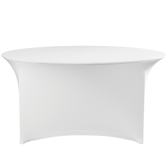 Obrus okrągły bez prasowania śr. 180cm tkanina Jersey biały - Hendi 814451