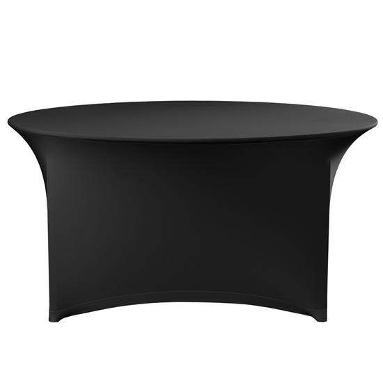 Obrus okrągły bez prasowania śr. 180cm tkanina Jersey czarny - Hendi 814468