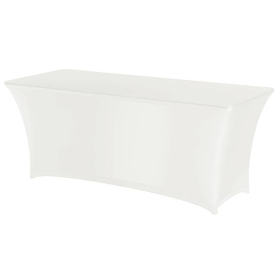 Obrus prostokątny bez prasowania 183x760cm tkanina Jersey biały - Hendi 814420