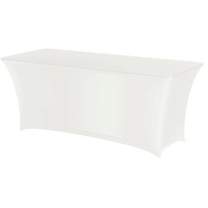 Obrus prostokątny bez prasowania 150x760cm tkanina Jersey biały - Hendi 814390