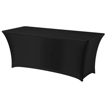 Obrus prostokątny bez prasowania 150x760cm tkanina Jersey czarny - Hendi 814406