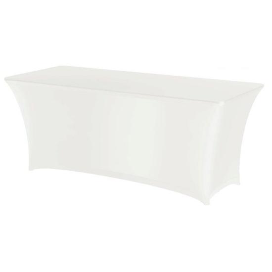 Obrus prostokątny bez prasowania  tkanina Jersey biały - Hendi 814369