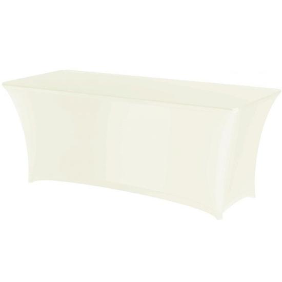 Obrus prostokątny bez prasowania  tkanina Jersey kremowy - Hendi 814352