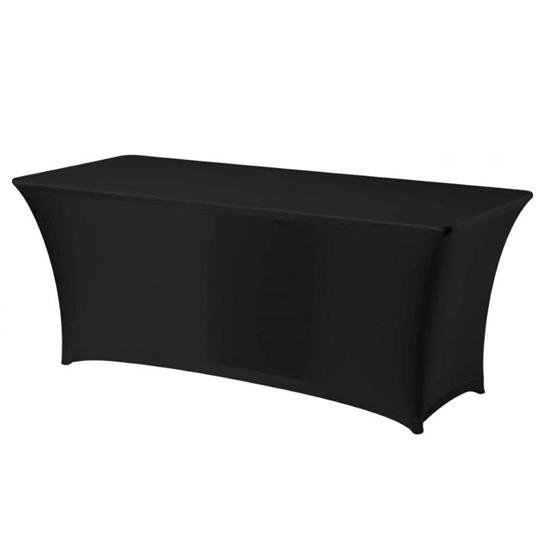 Obrus prostokątny bez prasowania  tkanina Jersey czarny - Hendi 814376