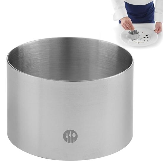 Pierścień kucharski cukierniczy ze stali nierdzewnej śr. 90mm wys. 45mm - Hendi 512302