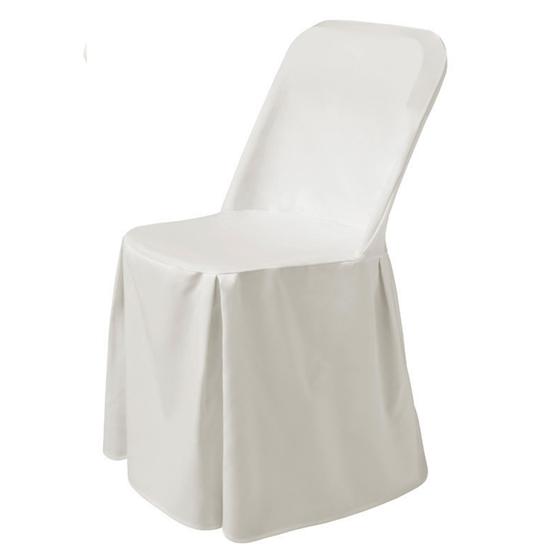 Pokrowiec nakrycie na krzesło Excellent tkanina Poly-Jersey biały - Hendi 813096