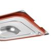 Pokrywka do pojemnika GN Profi Line z uszczelką silikonową i wycięciem na uchwyty GN1/4 265x162mm stal - Hendi 804346