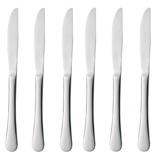 """Nóż stołowy sztućce """"BLUES"""" zestaw 6szt. - Hendi 768013"""
