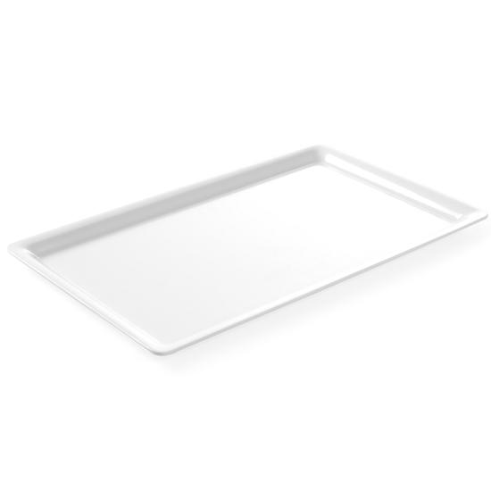 Taca ekspozycyjna bufetowa do potraw z melaminy GN1/1 wys. 20mm biała - Hendi 566008
