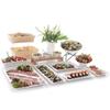 Taca ekspozycyjna bufetowa do potraw z melaminy GN1/2 wys. 65mm biała - Hendi 566060