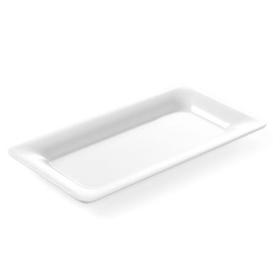 Taca ekspozycyjna bufetowa do potraw z melaminy GN1/3 wys. 20mm biała - Hendi 566022