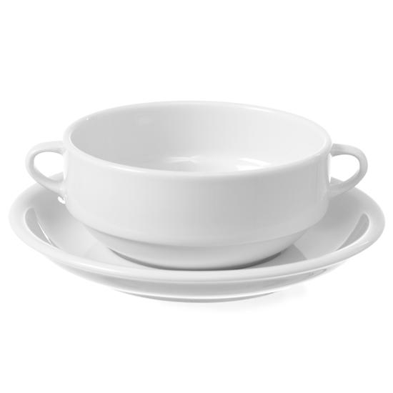 Bulionówka z porcelany biała OPTIMA 380ml zestaw 12szt. - Hendi 770924