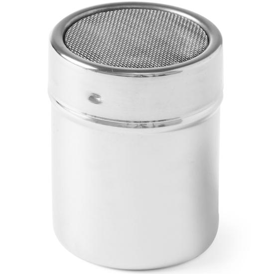 Dyspenser dozownik kuchenny z sitkiem do cukru pudru stal nierdzewna śr. 55mm wys. 75mm - Hendi 631300