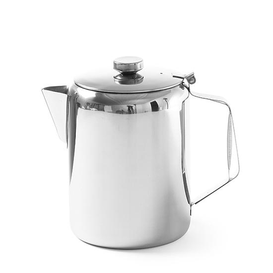 Dzbanek imbryk z pokrywką ze stali nierdzewnej do kawy herbaty 0.9L - Hendi 453100