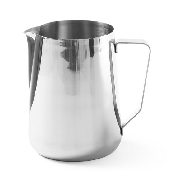 Dzbanek kubek stalowy do spieniania mleka do kawy cappuccino 0.35L - Hendi 451502