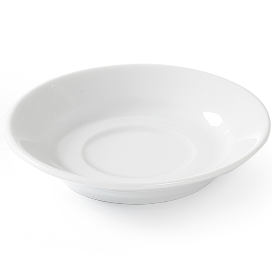 Spodek do filiżanki do kawy OPTIMA biała porcelana śr. 90mm zestaw 12szt. - Hendi 770917