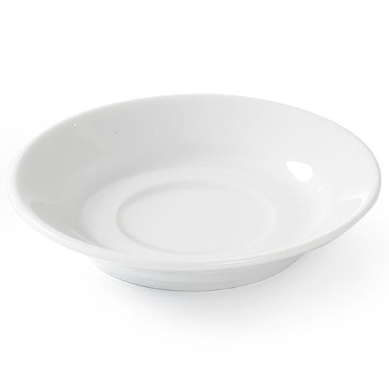 Spodek do filiżanki do kawy i herbaty OPTIMA biała porcelana śr. 115mm zestaw 12szt. - Hendi 770979