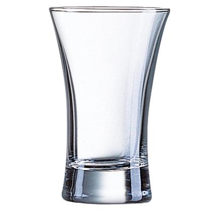 Kieliszek do wódki Arcoroc Islande HOT SHOT szkło hartowane 70ml zestaw 12szt. - Hendi G2639