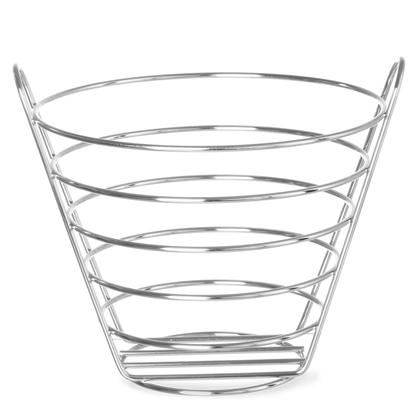 Koszyk na owoce dekoracyjny ze stali chromowanej śr. 215mm wys. 205 - Hendi 426418