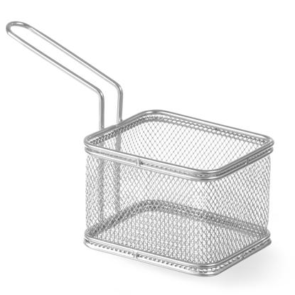 Koszyk miniaturowy do smażonych przekąsek stal nierdzewna 100x80x75mm - Hendi 426425