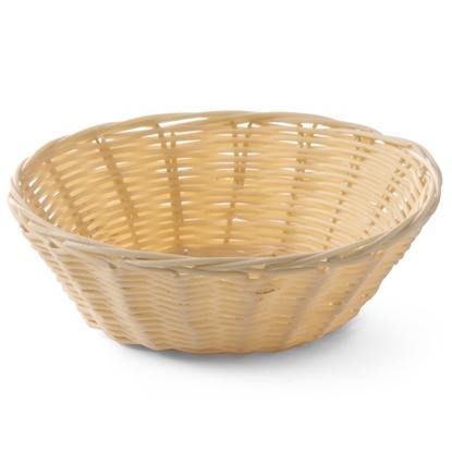 Koszyk na pieczywo z polirattanu okrągły śr. 200mm wys. 65mm - Hendi 426609