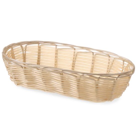 Koszyk na pieczywo z polirattanu owalny 225x110x60mm - Hendi 426708