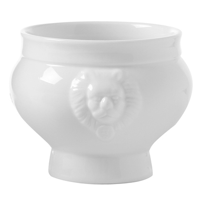 Miska na zupę LIONHEAD biała porcelana 1L - Hendi 784747