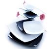 Półmisek dekoracyjny DELICE Arcoroc E7836 biały zestaw 6szt. - Arcoroc E7836