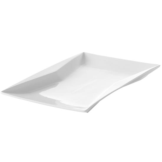 Półmisek dekoracyjny prostokątny TORRO 360x240mm biała porcelana - Hendi 783658